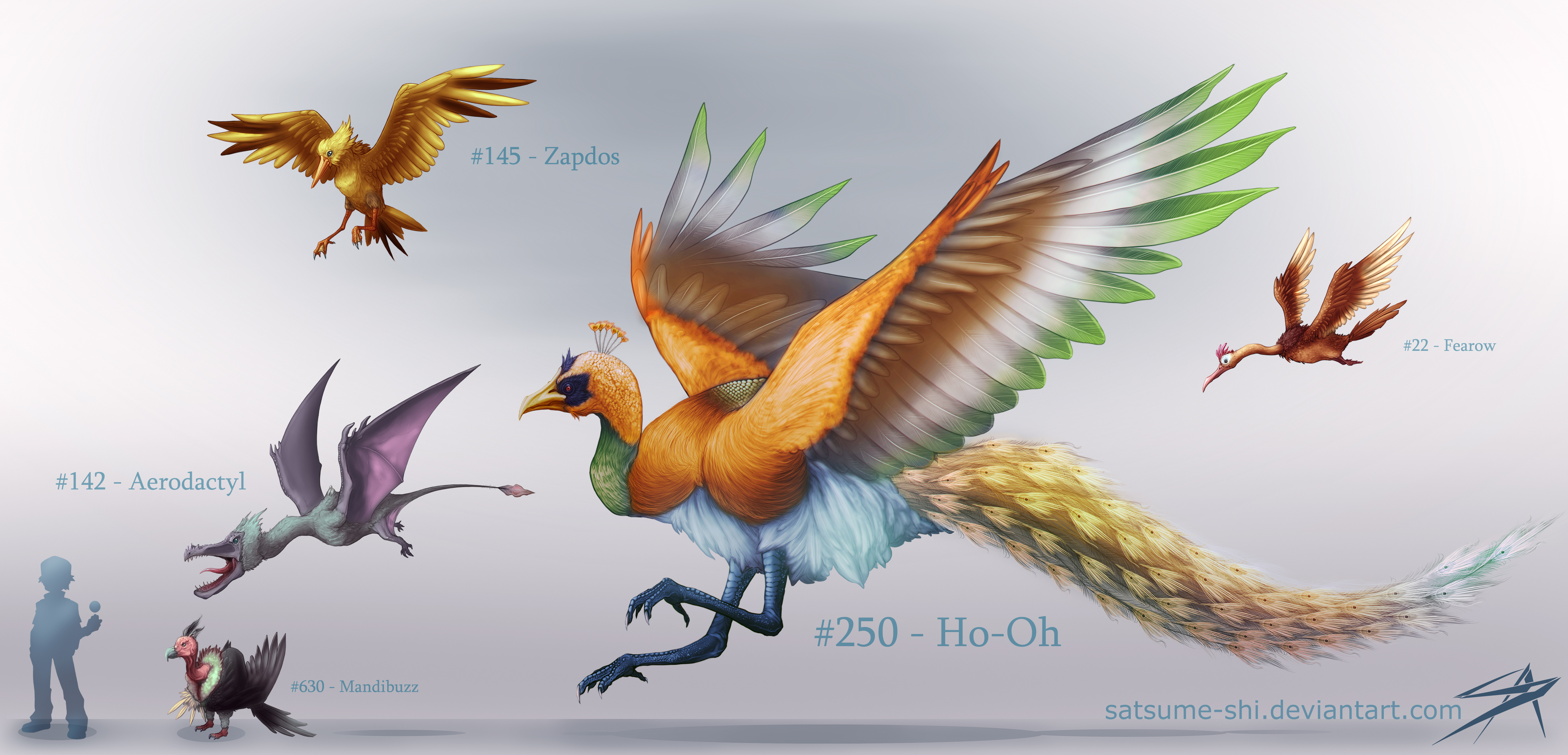 How To Draw Pokemon Ho Oh Picture Of Solution For