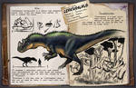 Ceratosaurus ARK Dossier [FANMADE] by satsume-shi