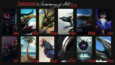 Art Summary 2016 by satsume-shi