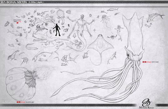 Sea-Bioma : Nekton by satsume-shi