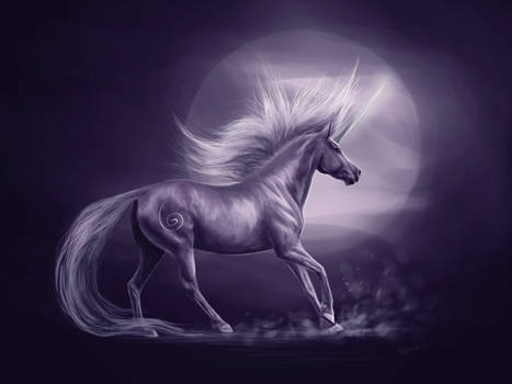 Purple unicorn by Nightmare-v