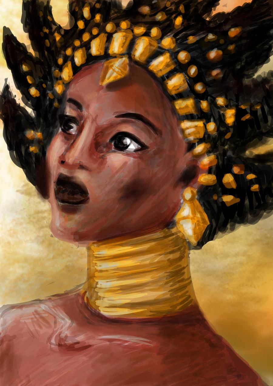 Karaba's portrait by AalienoOr