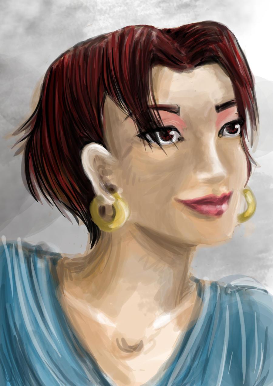 Marina's portrait by AalienoOr