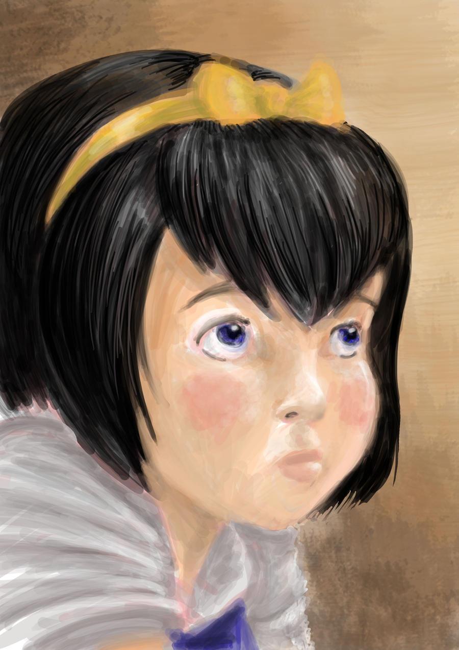 Anne-Marie's portrait by AalienoOr