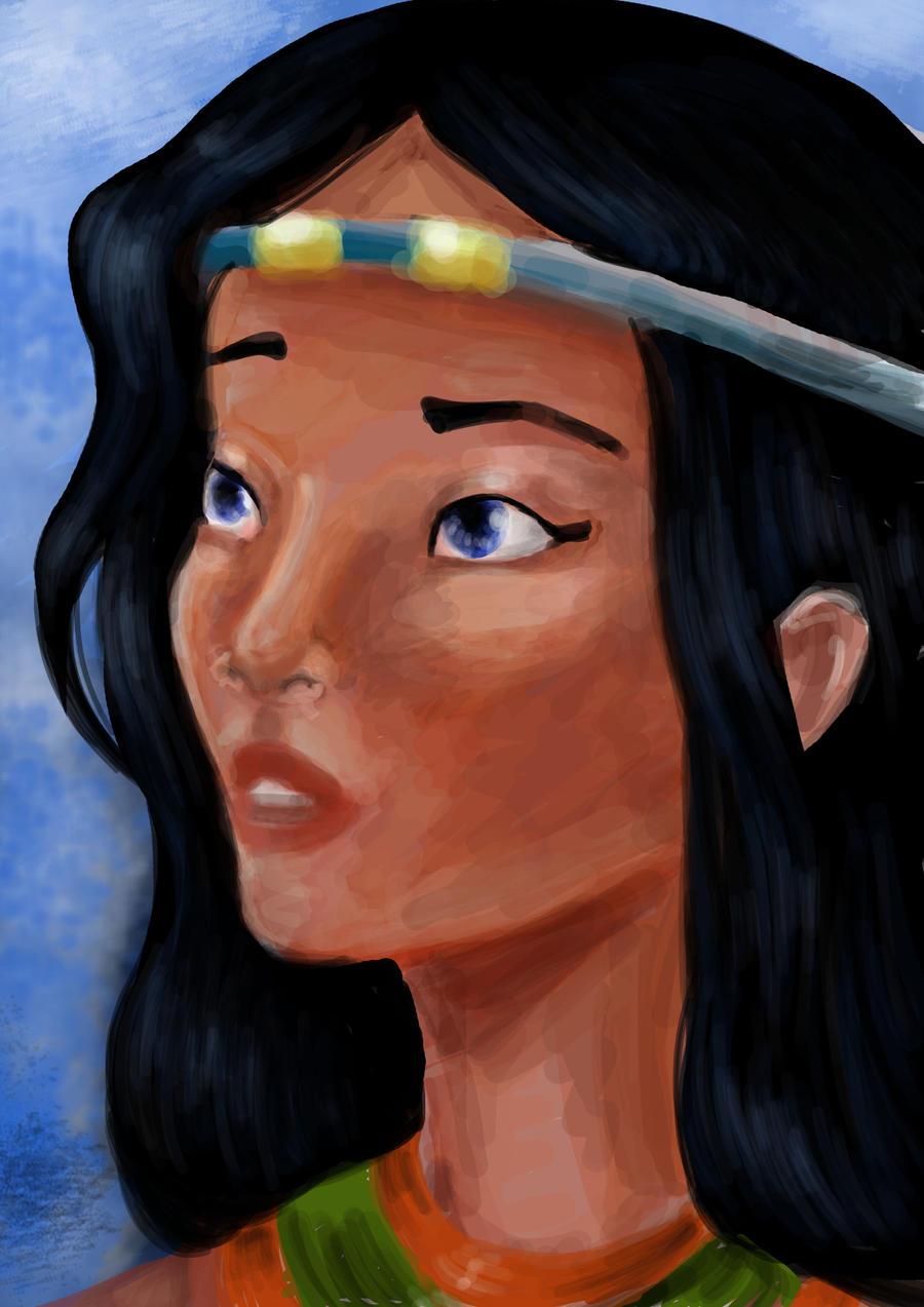 Akhesa's portrait by AalienoOr