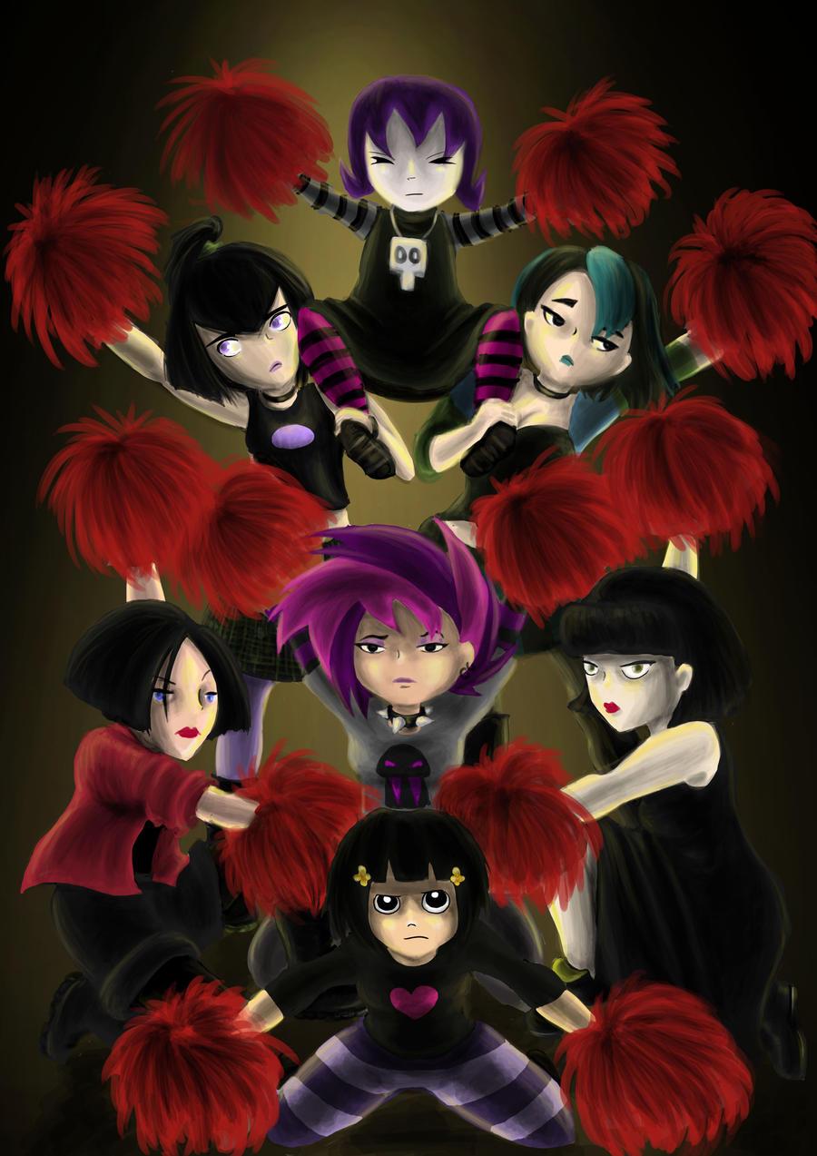 Evil Cheerleaders. by AalienoOr