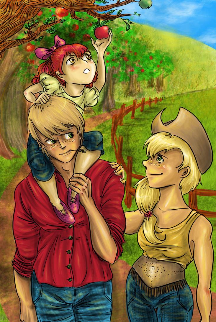 Applejack Family by AalienoOr