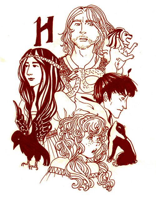 Hogwarts Founders by AalienoOr