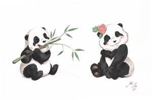 Panda Bears by artofMilica