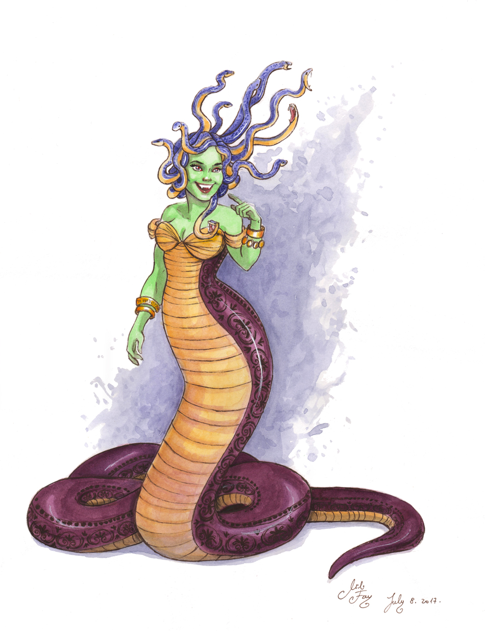 MythoJuly 2017 Day 8: Medusa by artofMilica