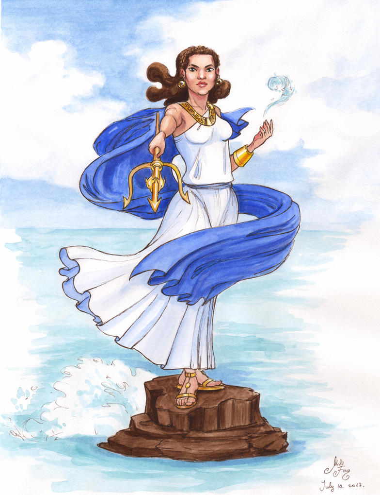 MythoJuly 2017 Day 10: Lady Poseidon by artofMilica
