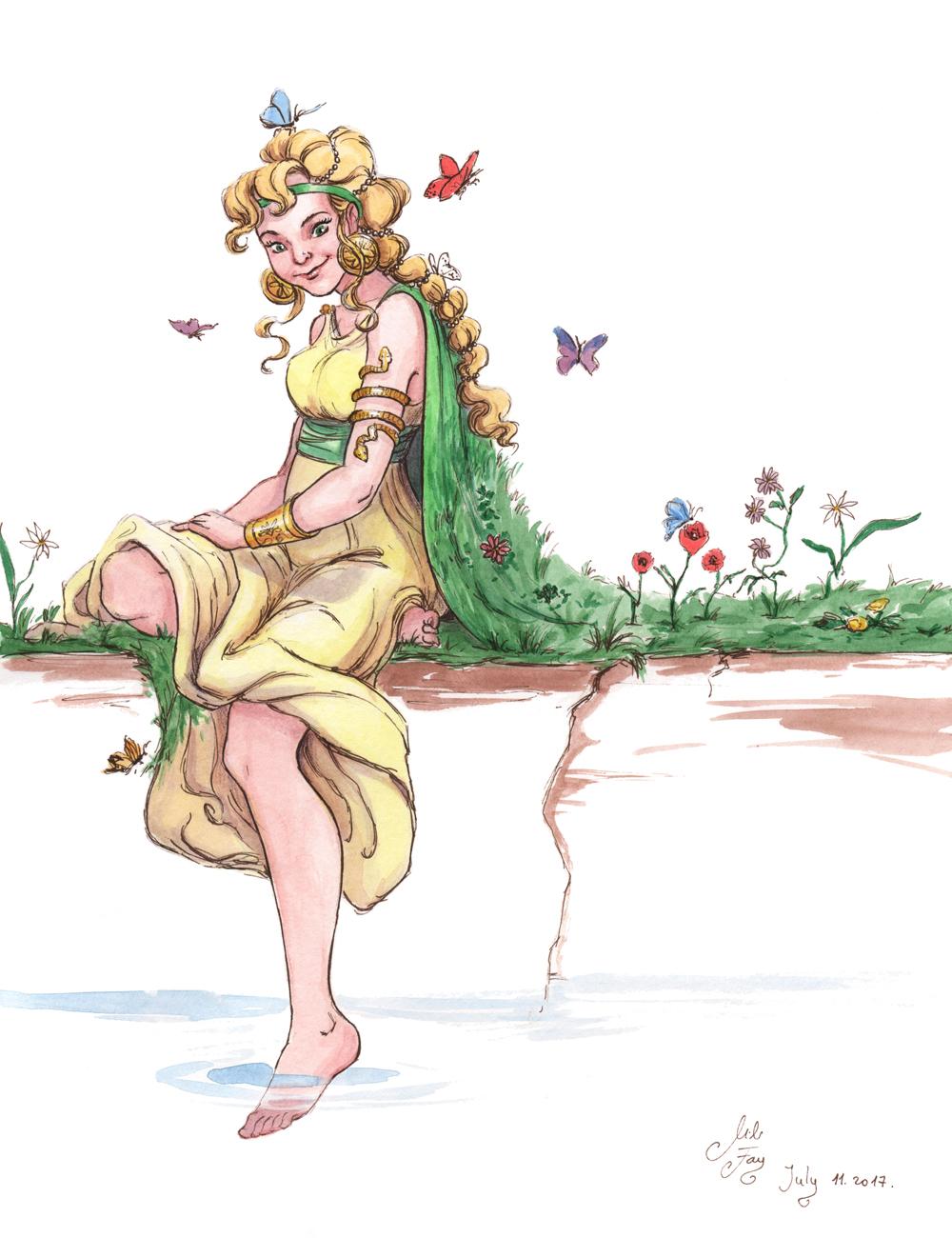 MythoJuly Day 11: Gaia by artofMilica