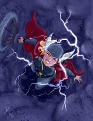 Inktober 2017 Day 6: Thor by artofMilica