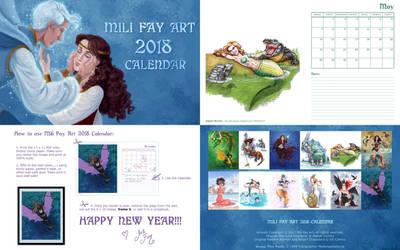 Free 2018 MFA Calendar by artofMilica