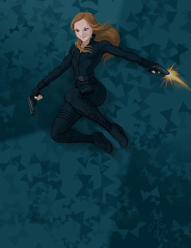 Inktober Day 9: Black Widow by artofMilica
