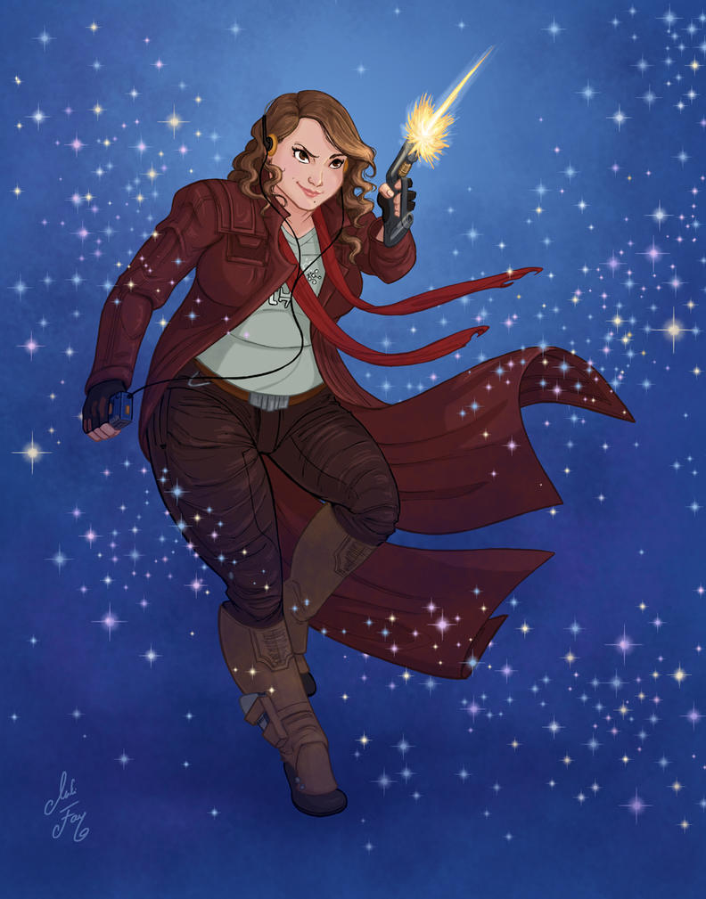 Inktober Day 11: Star Lord by artofMilica