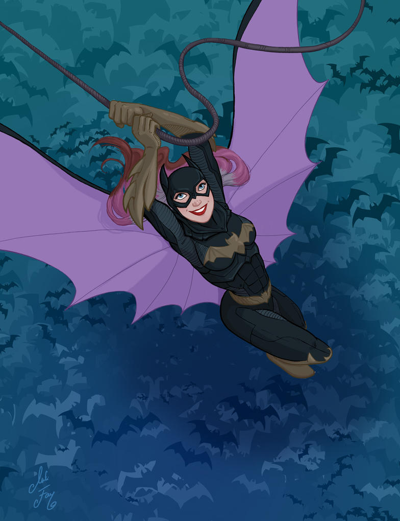 Inktober Day 10: Batgirl by artofMilica