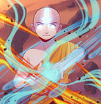 Aang, the Avatar by AnuchasArt
