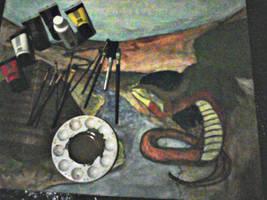 WIP Quetzalcoatl painting by Atawai-Dragons