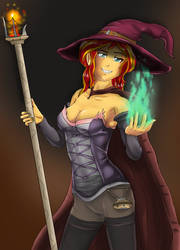 Sunset Shimmer  Fire witch by symptom99
