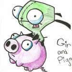 Gir And Flying Piggy