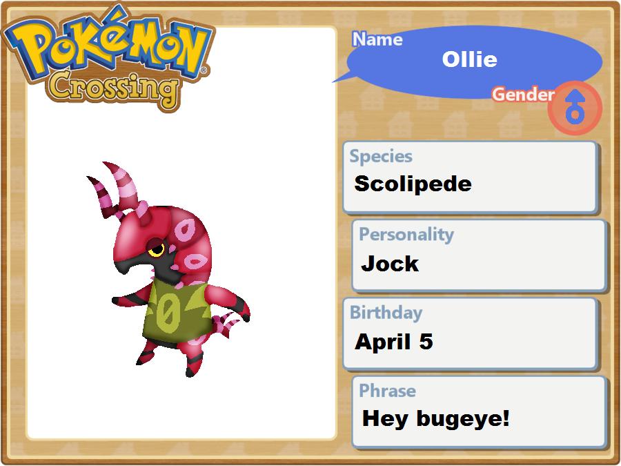 Pokemon Crossing - Ollie the Scolipede App by joltzen on ...