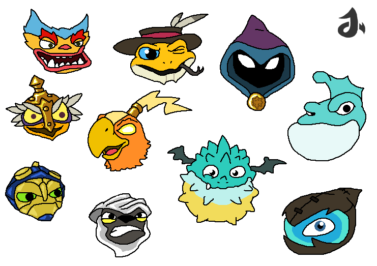 how to draw skylanders characters