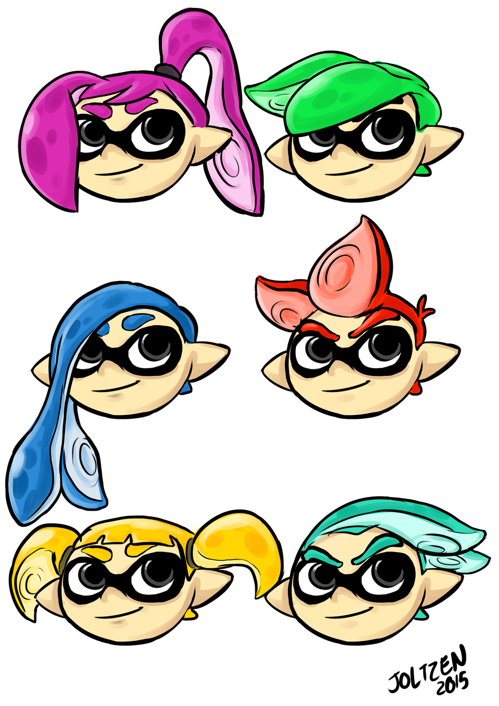 Inkling Hair Variations By Joltzen On Deviantart