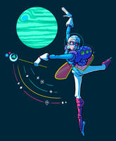 planet dance by AdrianKendallArt