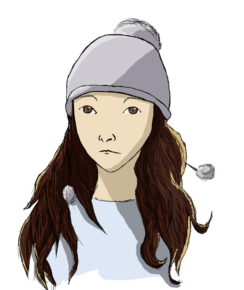 Girl with cap by Kobaitchi