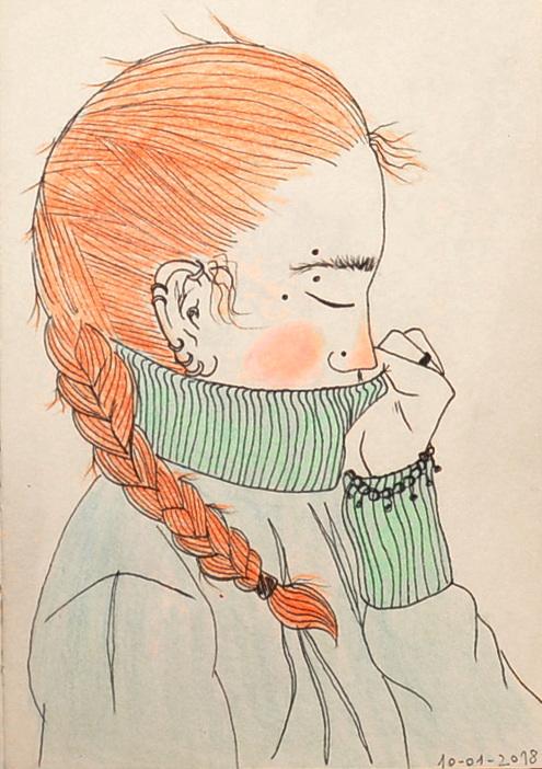 Random girl portrait by Kobaitchi