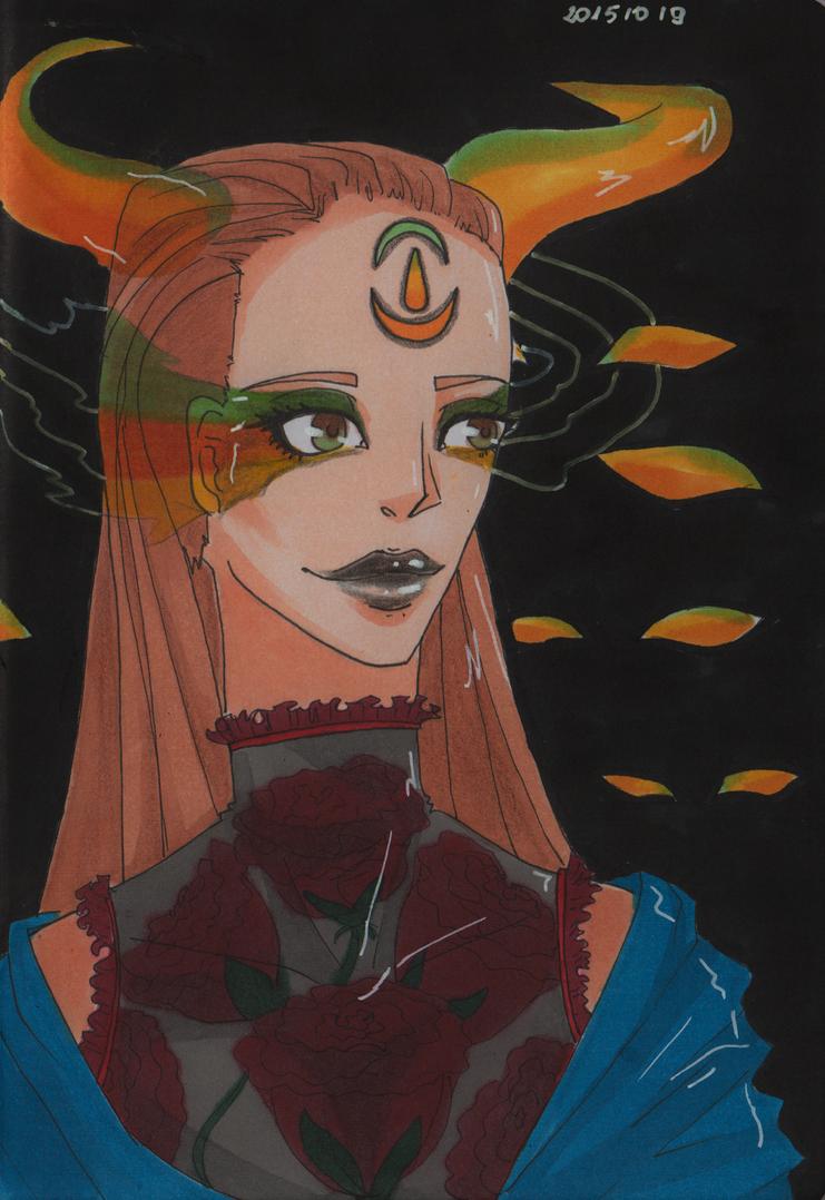 Dark witch by Reanaciuks