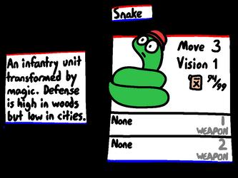 Advance Wars: Dual Snake by lizard-socks