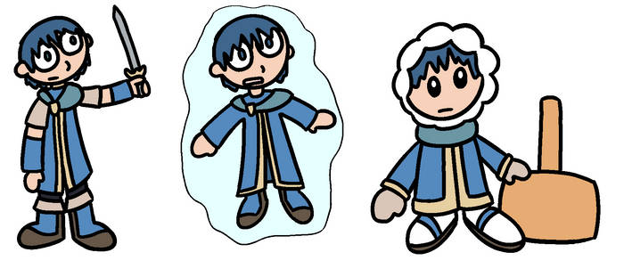 Fighter Morph - Marth to Ice Climber by lizard-socks