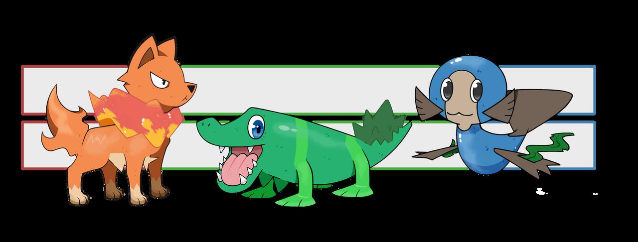 Solinn Pokemon Starters by neildluffy