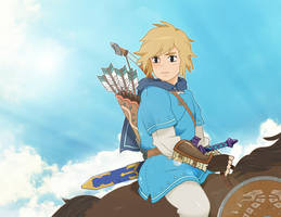 The Legend of Zelda: Breath of The Wild / Ghibli by neildluffy