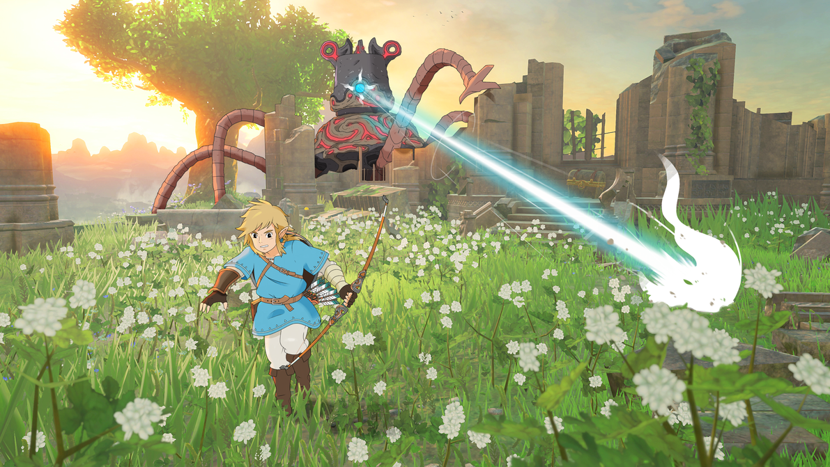 The Legend of Zelda: Breath of The Wild / Ghibli by neildluffy