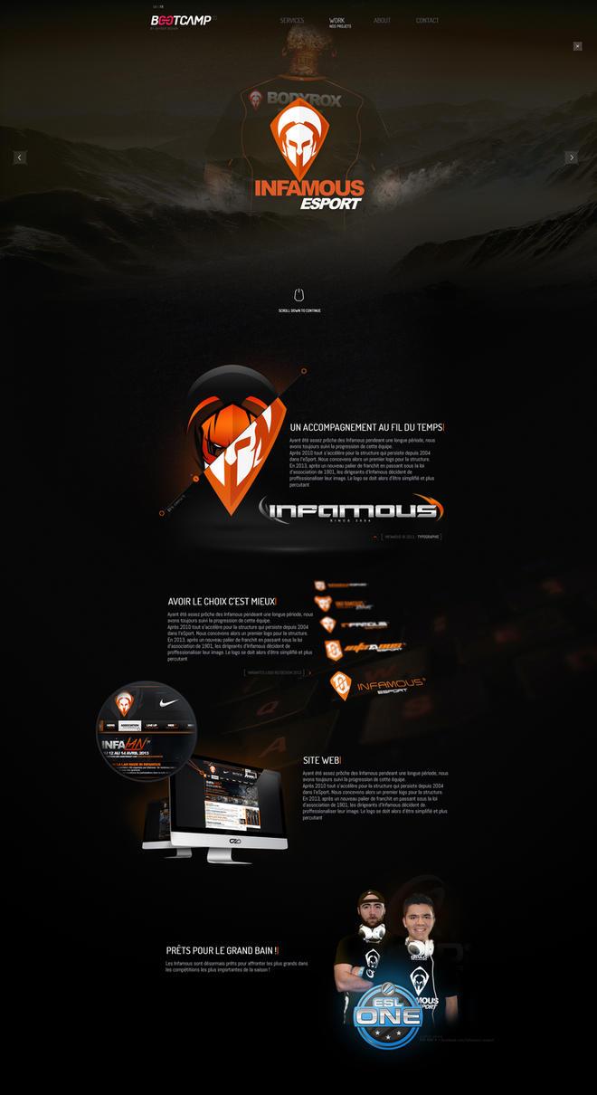 Infamous eSport - Logo redesign by xCranK