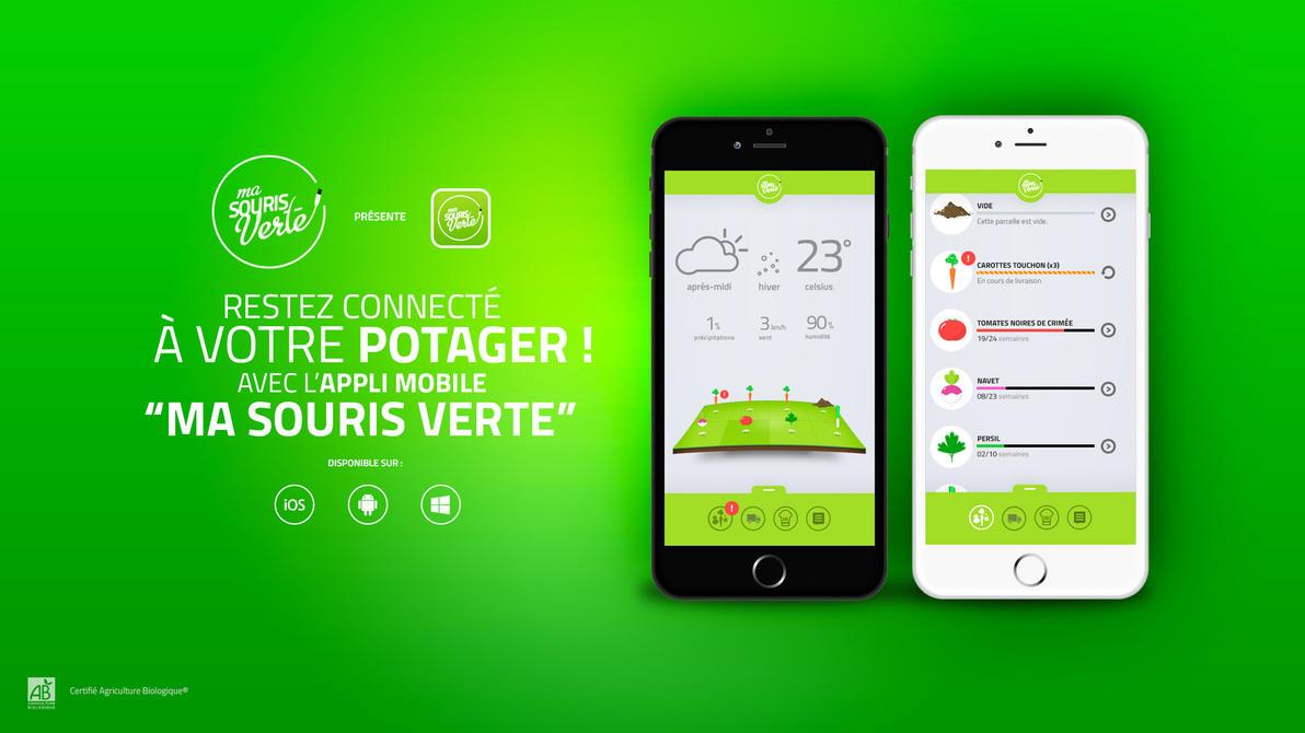 Ma souris verte - Mobile app concept by xCranK