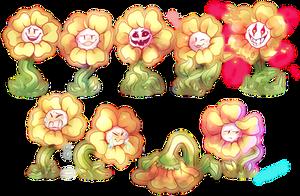 Flowey the Flower by Sandette