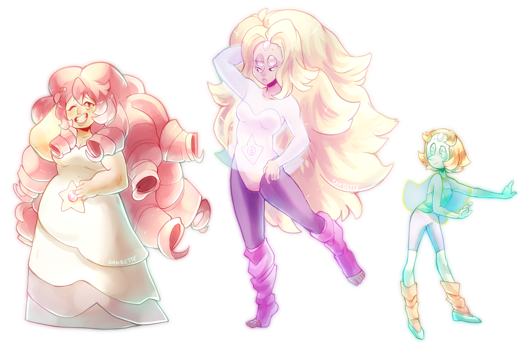 Honestly Rainbow Quartz is so pretty she stunned me the first time i saw her tumblr version: sandrathachao.tumblr.com/post/… Edit: You can now get these on Redbubble Products! Stickers, Note...