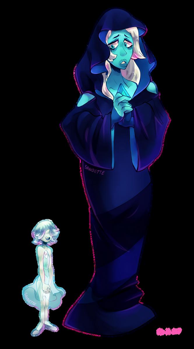 Steven Universe Blue Diamond And Blue Pearl By Sandette