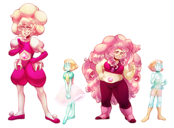 Steven Universe - Pink Diamond, Pearl, Rose Quartz