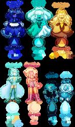 Adoptable Gems - Steven Universe