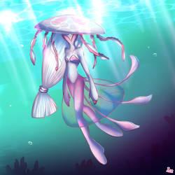 Jellyfish Fairy/Mermaid Thing by IceCream-Yo