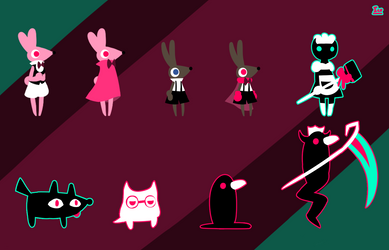 Some OPaEV Character Designs by IceCream-Yo