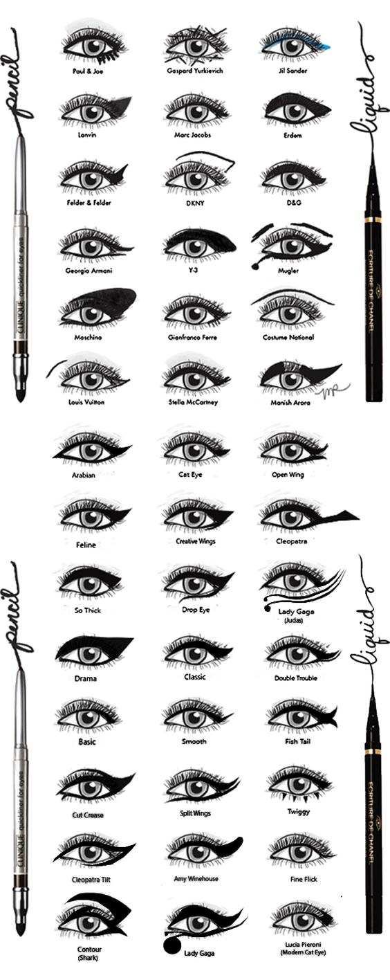 Eyeliner Styles by DamnBlackHeart