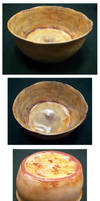 Distressed Bowl on white clay