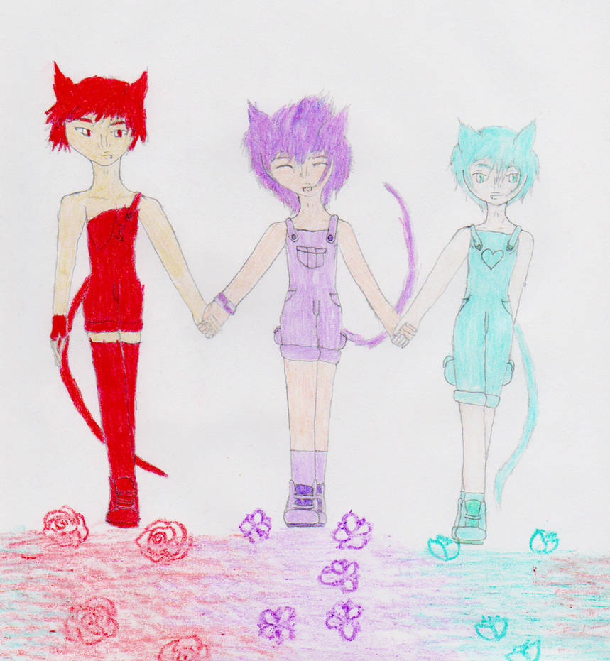 Cute kitty trio the three best friends by ultimamage578