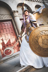 Athena Cosplay: Ever Glittering Sky by ashelikescake